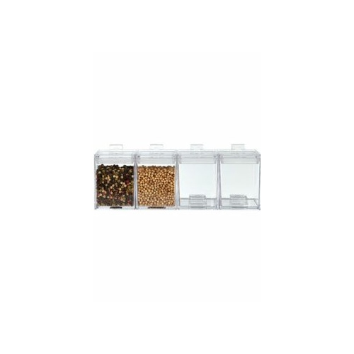 Mee Me Clear Mini Stacking Canister - 4 pack