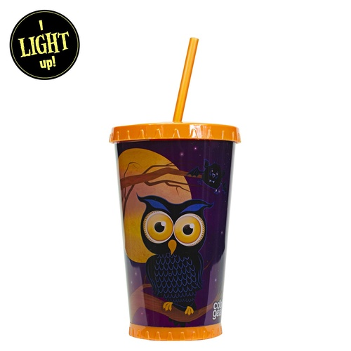 680mL Light Up Halloween Chiller - Owl