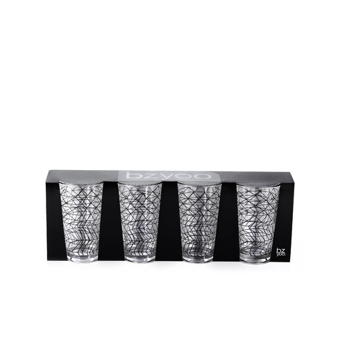 Bzyoo Spidy Tumbler Set of 4 Pack-Black