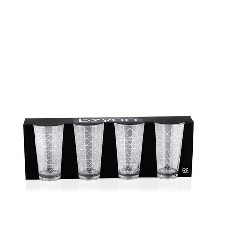 Bzyoo Spidy Tumbler Set of 4 Pack-White