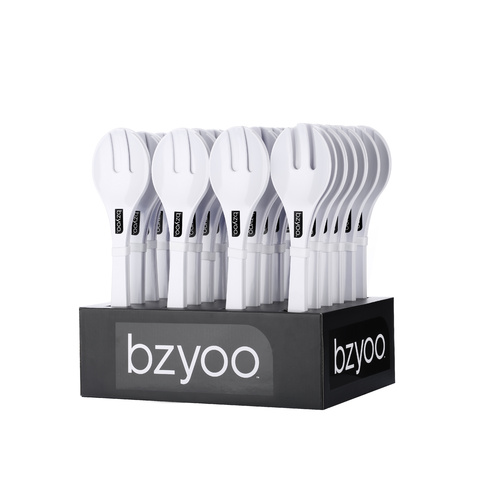 Bzyoo Sloop Salad Server Set of 2 - White