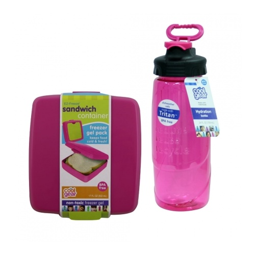 Bottle and Sandwich Pack Pink