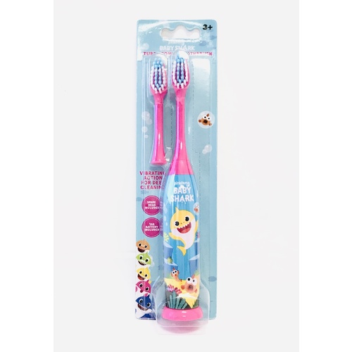 Baby Shark Turbo Battery Toothbrush with Spare Head