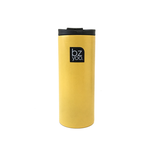 Bzyoo Brew 350mL Small Thermal Bottle Mustard