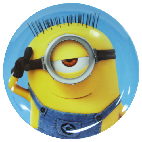 Minions Round Plate - Blue