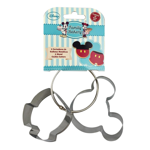 Mickey Mouse Metal Cookie Cutter 2pce Set